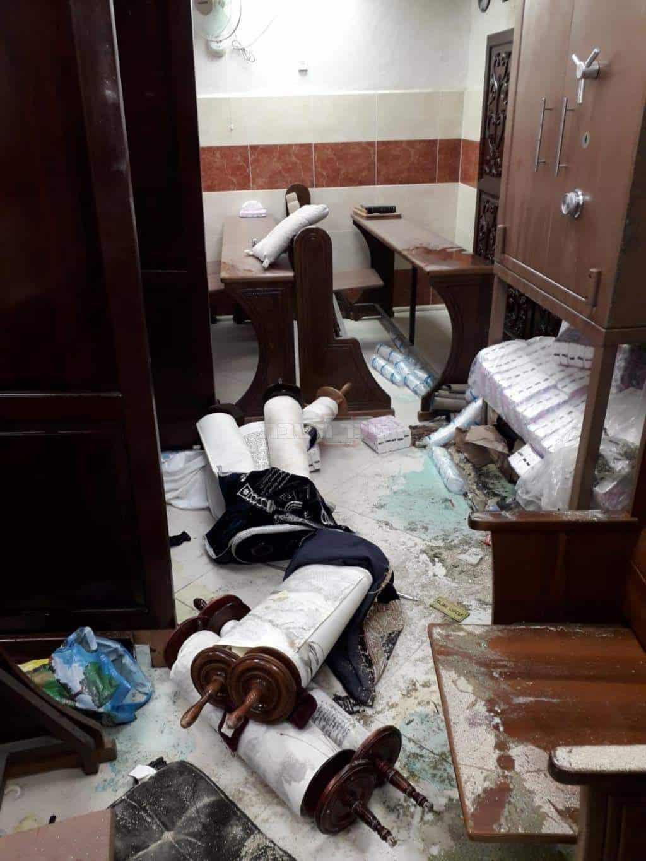 בית הכנסת שיח ישראל - צילום דוברות המשטרה