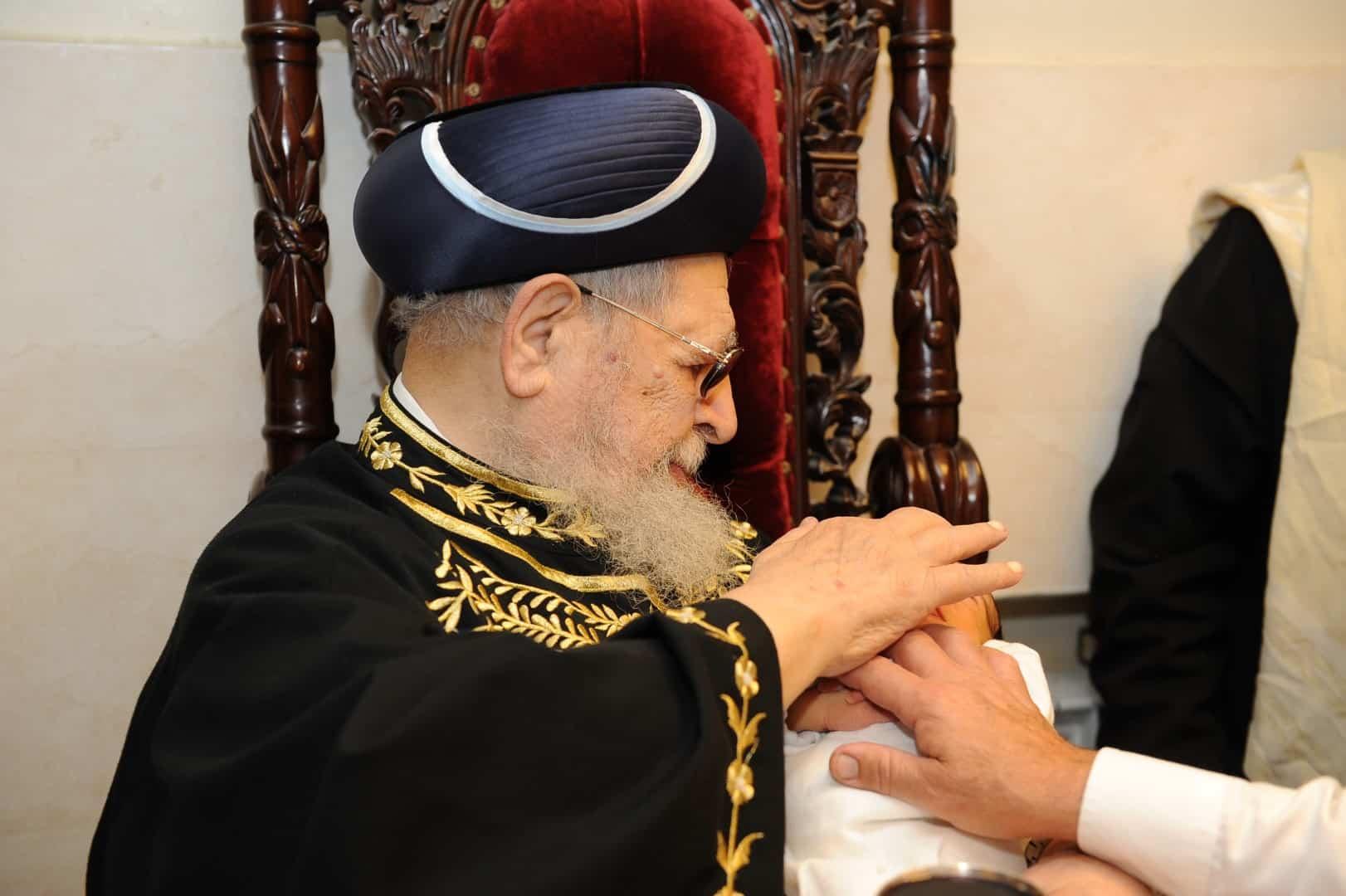 הרב עובדיה יוסף צילום משה אסולין