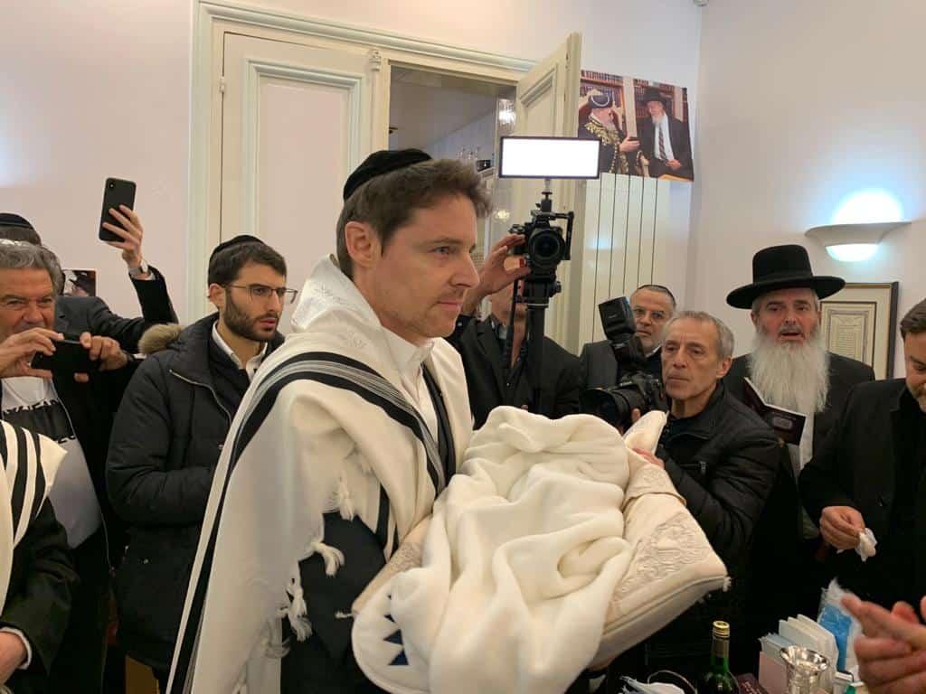 הרב יהושע ברכץ זקן רבני צרפת בברית לבן הנגיד דוב קוריאל